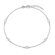Sparkling CZ's By The Yard Anklet