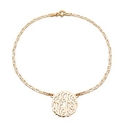 Gold Vermeil Custom Monogram Anklet