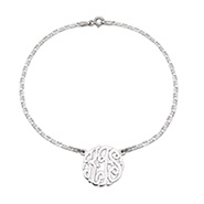 Sterling Silver Custom Monogram Anklet
