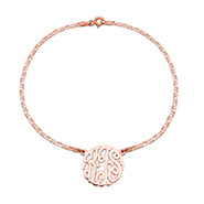Rose Gold Vermeil Custom Monogram Anklet
