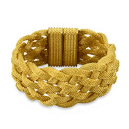 Tiffany Inspired Gold Braided Mesh Bracelet