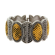 Celebrity Inspired Hammered Gold Gladiator Bangle Bracelet
