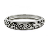 Antiqued Filigree Bangle Bracelet