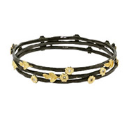 Golden Nature Triple Stackable Bangle Bracelet Set