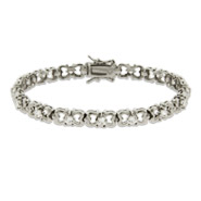 Pretty CZ String of Bows Tennis Bracelet