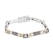 Designer Inspired Cable Bracelet with Clear Cubic Zirconia