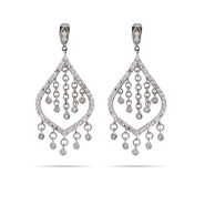 Jazmin's Dazzling CZ Chandelier Earrings