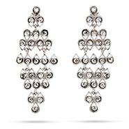 Sparkling Teardrop Chandelier Earrings