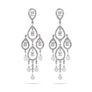 Dazzling Celebrity Style Pear Drop Chandelier Earrings