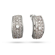 Tessa's Fabulous Pave CZ Bar Earrings