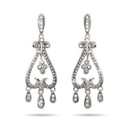 Veronica's Sparkling Chandelier Style Earrings