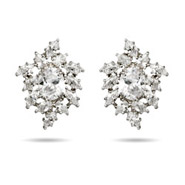 Red Carpet Style Dazzling Diamond CZ's Earrings