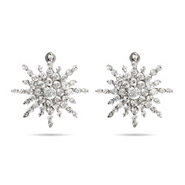 Nina's Fancy Starburst CZ Stud Earrings