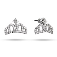 Tiara CZ Stud Earrings