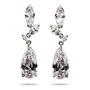 Razzle Dazzle Clear CZ Cocktail Earrings