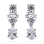 Dazzling Red Carpet Style Multi Shape CZ Earrings