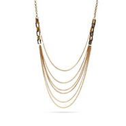 Layered Goldtone Curb Necklace