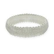 Tiffany Inspired Mesh Sterling Silver Bracelet