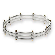 Tiffany Inspired Gatelink Bracelet in Sterling Silver