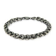 Italian Wheat Chain Mens Sterling Silver Bracelet