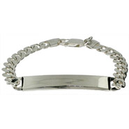 Sterling Silver Curb Linked Kids ID Bracelet