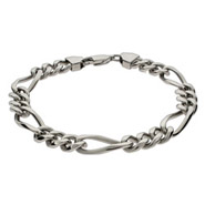 Men's Stainless Steel Figaro Bracelet
