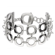 Tiffany Inspired Sterling Silver Double Row Cushion Bracelet