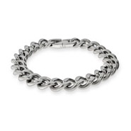 Mens Stainless Steel Curb Link Bracelet