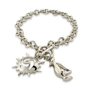 Twilight Inspired Team Jacob Sterling Silver Charm Bracelet