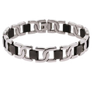 Men's Stainless Steel Interlocking Design Bracelet
