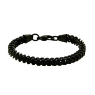 Men's Black Steel Foxtail Link Bracelet