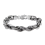 Men's Intertwined Oval Chain Link Bracelet
