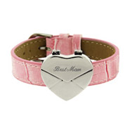 Engravable Pink Secret Message Heart Envelope Locket Bracelet