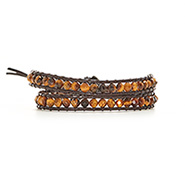 Chen Rai Genuine Tigers Eye Wrap Bracelet
