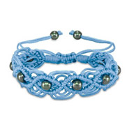 Blue Macrame Friendship Bracelet