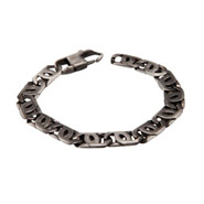 Men's Stainless Steel Marina Link Bracelet In Brushed Finish
