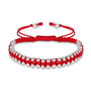 Red Beaded Double Row Friendship Bracelet