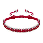 Fuchsia Beaded Double Row Friendship Bracelet