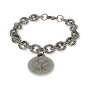 Hunger Games Inspired Engraved Round Tag Bracelet