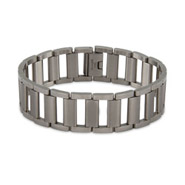 Men's Ladder Link Stainless Steel Bracelet
