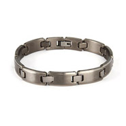 Men's Titanium Brushed Link Bracelet