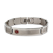 Engravable Stainless Steel Smooth Link Medical Alert ID Bracelet
