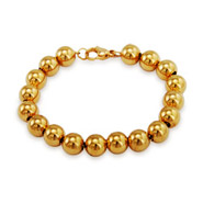 Tiffany Inspired 8mm Gold Plated Bead Bracelet