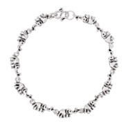 Lucky Parade of Elephants Sterling Silver Bracelet