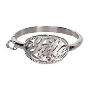Custom Sterling Silver Baby Nameplate Bangle Bracelet