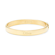 Gold Plated Engravable Oval Bangle