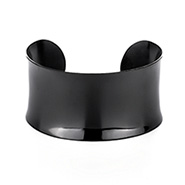 Tiffany Inspired Black IP Plated Engravable Wide Cuff Bracelet