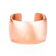 Rose Gold Wide Cuff Bracelet with Brushed Finish
