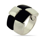 Funky Onyx Disco Ring