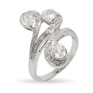 Sofia's Triple Pear Shaped CZ Right Hand Ring